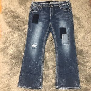 CLEARANCE   21 Black by Rue 21+ Patch Work Jeans
